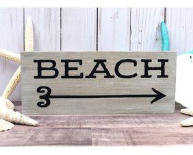 Beach Arrow Signs