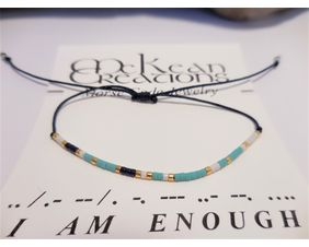 I Am Enough Morse Code Bracelet