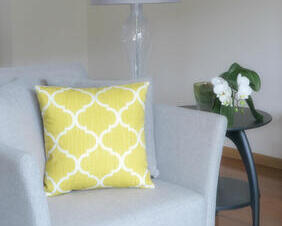 Moroccan Yellow Pillow Cover