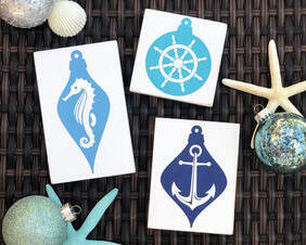 Nautical Christmas Signs, Christmas Ornaments
