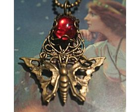 Brass Moth Gothic Victorian Pendant