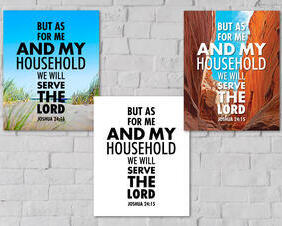 Joshua 24:15 Digital Download, But As For Me And My Household We Will Serve The Lord