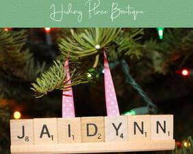 personalized scrabble christmas ornament
