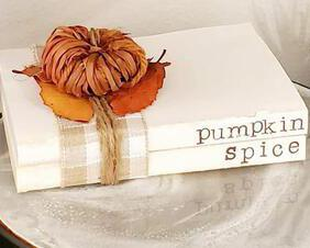 pumpkin book stack