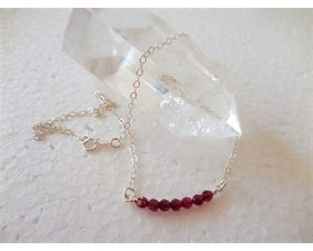 Swarovski Crystal Bar Necklace with Sterling Silver Chain