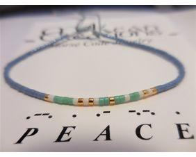 Peace Morse Code Bracelet, Friendship Bracelet