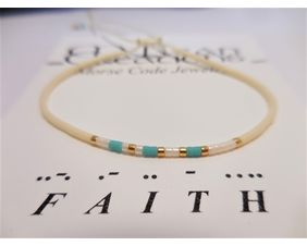 Faith Morse Code Bracelet, Friendship Bracelet