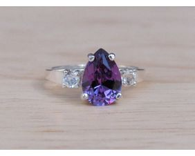 Color Change Alexandrite Ring in Sterling Silver