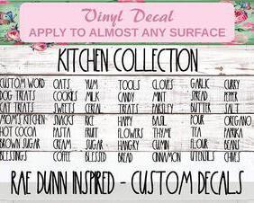 kitchen rae dunn decal