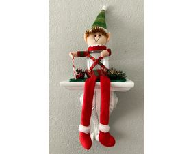 Elf Candy Jar Shelf Siters.  Cute and made to last a lifetime. Merry Christmas!