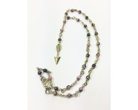 gemstone beaded necklace fashion jewelry gift for women