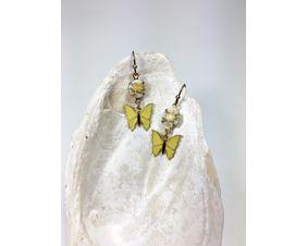 yellow butterfly dangle earrings for women
