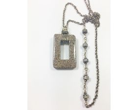 long gemstone pendant necklace