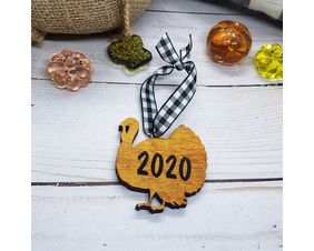 Personalized Wood Turkey Ornament