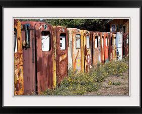 Vintage Rusty Gas Pumps