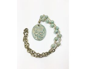 Pastel Blue Statement Necklace for Women