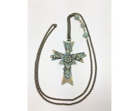 long large cross statement necklace for women