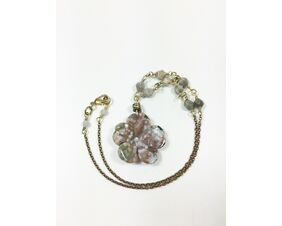 earth tone gemstone necklace for women