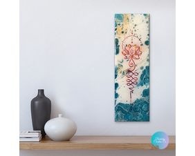 Unalome Turquoise Blue Painting Wall Art and Decor