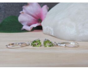Arizona Peridot Drop Earrings in Sterling Silver