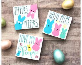 Easter Peeps Spring Signs