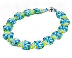 Blue Green Shell Bracelet