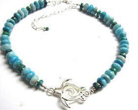 Blue Sea Turtle-Choker-Necklace