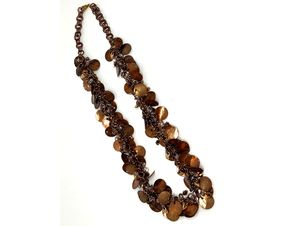 Handmade Copper Penny Shaggy Loop Chainmaille Necklace