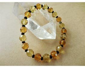 Crystal Stretch Bracelet in Citrine and Topaz