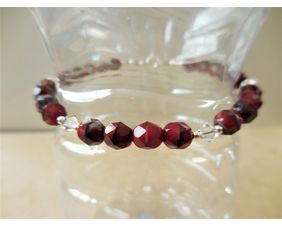 Glass and Crystal Beaded Bracelet