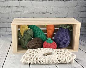 Crochet Veggie Play Set