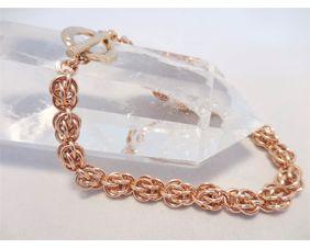 Bronze Chainmaille Bracelet Sweet Pea Weave