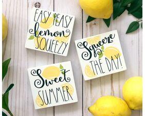 Summer Lemon Sign Trio
