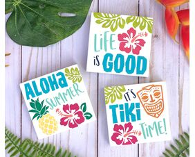 Tiki Trio Hawaiian Tropical Signs