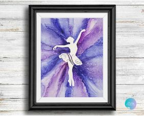 "Original Ballet Artwork ""Ballerina en Pointe"" by Berkeley Clements"