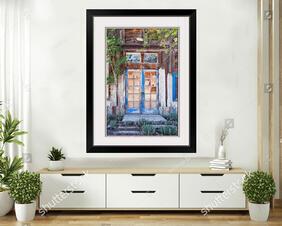 Abandoned Wooden Blue Door