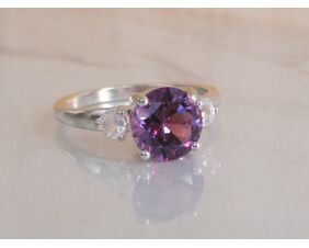 Alexandrite Color Change Ring with Moonstone