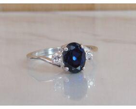 Blue Sapphire September Birthstone Ring