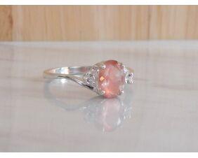 Oregon Sunstone Engagement Ring in Sterling Silver