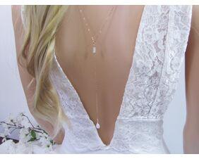 Rose Gold Moonstone Backdrop Necklace