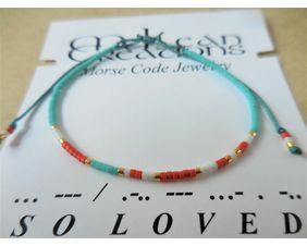 So Loved Morse Code Bracelet