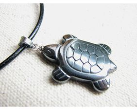stylized sea turtle necklace