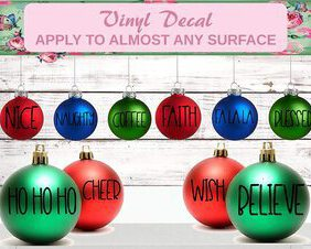 christmas ornament decal
