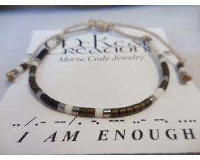 Men's Morse Code Bracelet I Am Enough