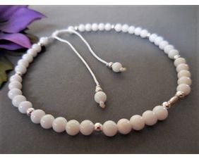 Jade and Sterling Adjustable Bracelet
