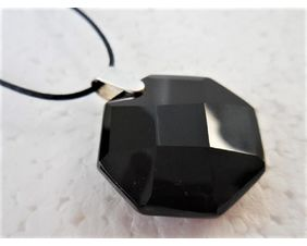 Black Onyx Pendant with Sterling Silver Bail