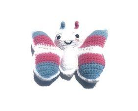 Trans Pride Butterfly Amigurumi