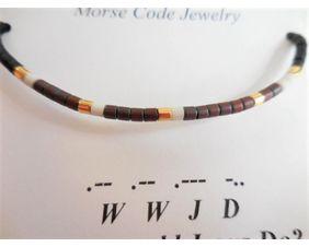 Mens Morse Code Bracelet WWJD - What Would Jesus Do