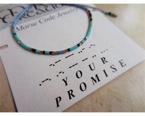 Morse Code Bracelet Your Promise