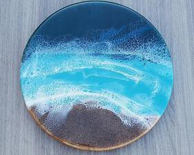 round beach tray